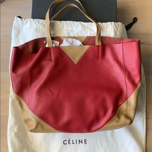 NWT Celine Horizontal Bi-Cabas Tote Leather